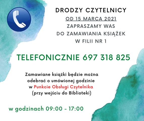 Zamówienia telefoniczne filia nr 1